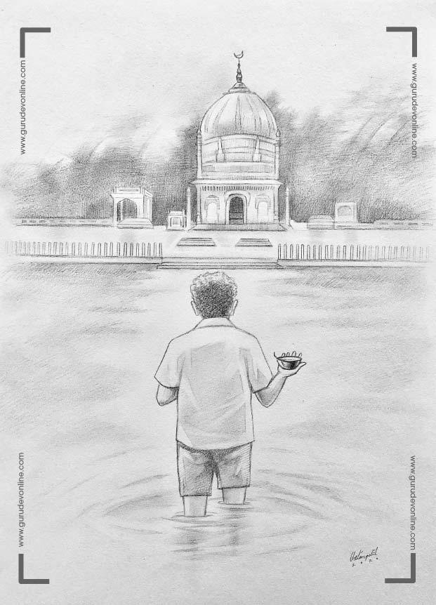Gurudev walks to a dargah