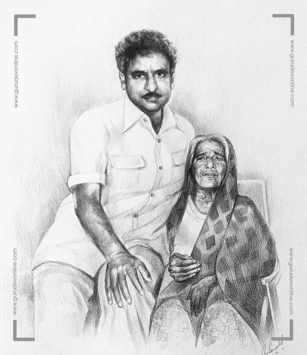 Gurudev and his mother