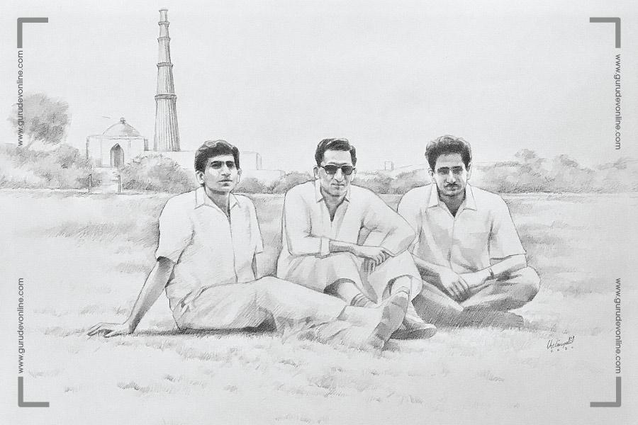 Gurudev with Friends