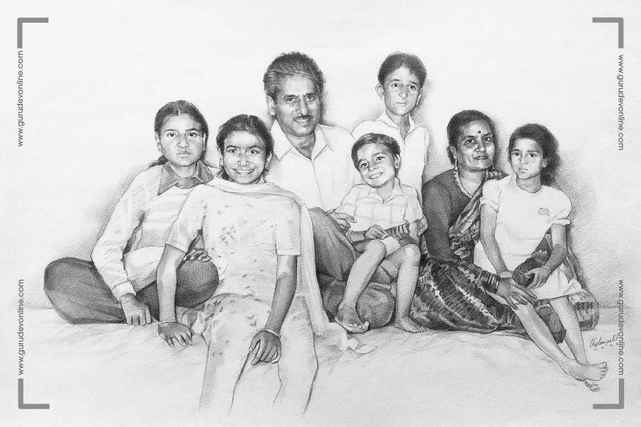 Gurudev and his family